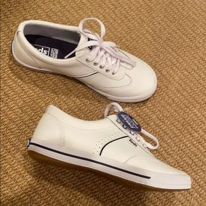Keds courty core leather white nwt 5.5 w